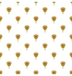 Korean fan pattern cartoon style vector