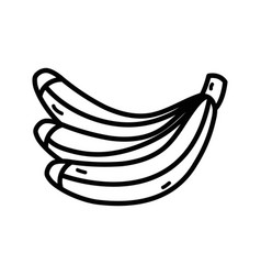 Line delicious banana fruit to healthy life vector