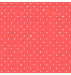 Orange Pink Red Star Polka Dots Background vector image