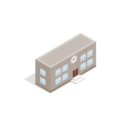 School building icon isometric 3d style vector