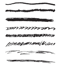 Set of brushes of pencils vector image