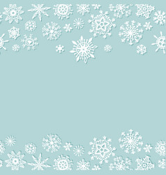 simple christmas background with snowflakes vector image vector image
