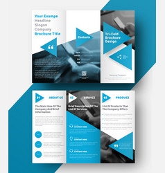 tri-fold brochure with a place for photos vector image