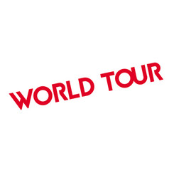 World tour rubber stamp vector