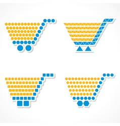 Shopping cart icon set with different shape vector