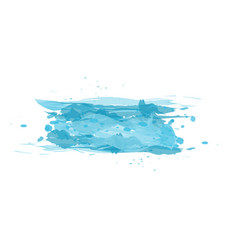 Watercolor imitation color splash design element vector