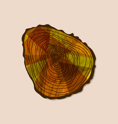 Cut tree log concept for nature help vector