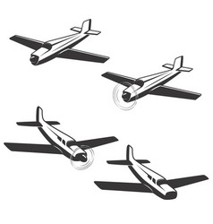 Set of airplane icons isolated on white vector