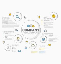 Company infographic profile design template vector