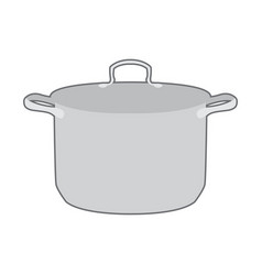 isolated kitchen pot vector image