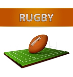 Football or rugby ball emblem vector