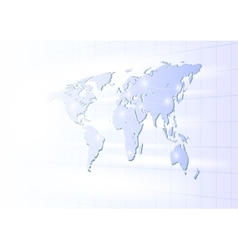 Business globe network on a light background vector