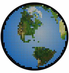 Mosaic earth vector
