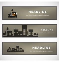 Design of black silhouette cityscape eps vector
