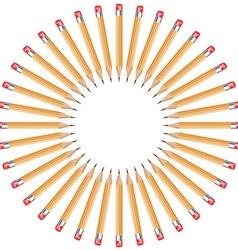 Pencils arranged in a circle vector