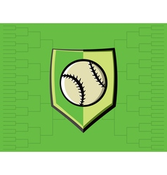 Baseball icon bracket vector