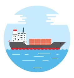 Big dry cargo ship image vector