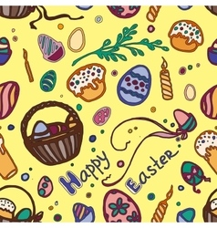 Doodle pattern easter vector