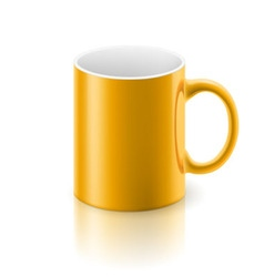 Yellow mug vector