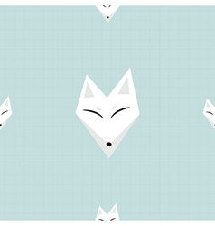 Arctic fox white background vector