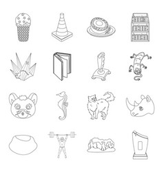 award sport animal and other web icon in outline vector image vector image