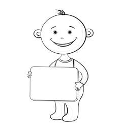 baby with sign vector image vector image
