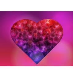 Bokeh heart vector image vector image