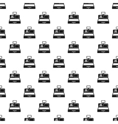 Cash register pattern simple style vector