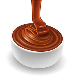 Chocolate background swirl and chocolate candy vector