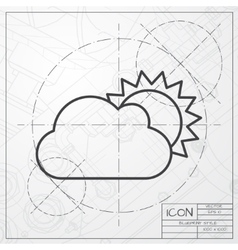 cloudness icon vector image vector image
