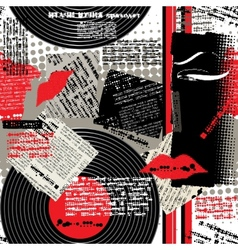 Collage black-white-red vector