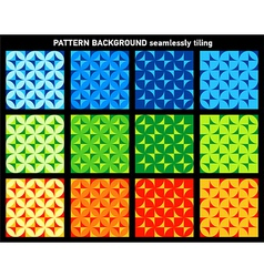 collection geometrical patterns colorful seamlessl vector image