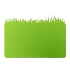 eco green banner business card vector image vector image