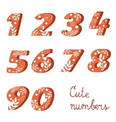 Elegant colorful numbers collection vector image