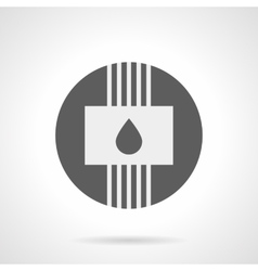 Gray round flat icon for water heating vector