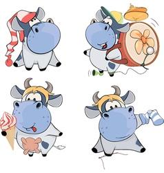Happy cowsclip art cartoon vector