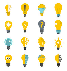 Lamp logo icons set in flat style vector
