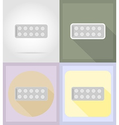medical flat icons 05 vector image vector image