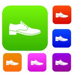 men shoe set collection vector image vector image