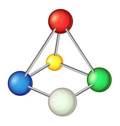 multicolored molecule icon cartoon style vector image vector image