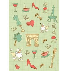 Paris icons design vector image