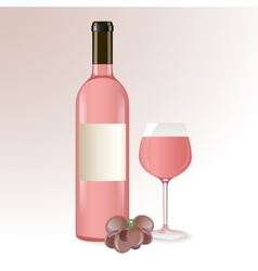 Pink wine vector image vector image