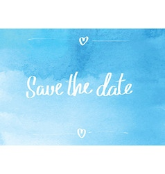 Save the date typographic blue vector