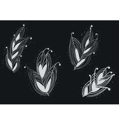 Seamless Feather Pattern from Wonderland on White vector image vector image