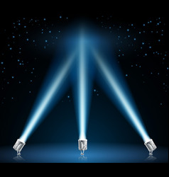 searchlights or spotlights vector image