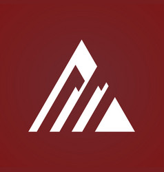 triangle strip business logo vector image