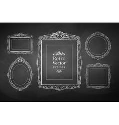 Vintage baroque frames vector image vector image