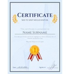 Winner certificate with seal vector image