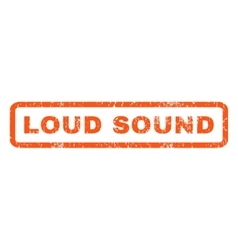 Loud sound rubber stamp vector