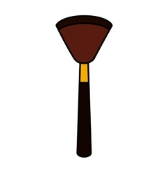 Make-up brush isolated icon vector